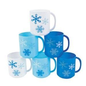 Winter Wonderland Snowflake Mugs