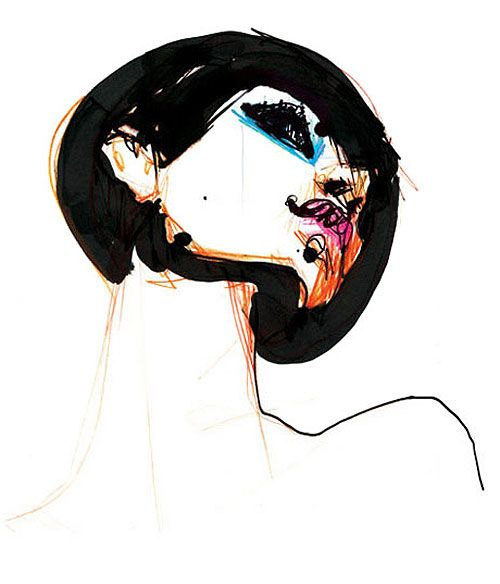 stina persson fashion illustration illustrator drawing watercolor paint ink