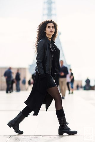 Chiara Scelsi after Haider Ackermann show during Paris Fashion Week SS 2016