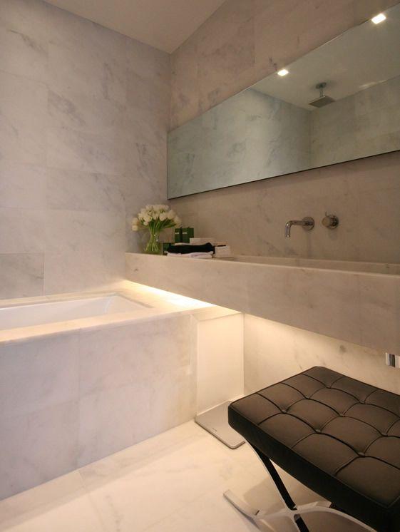 Bathroom inside the La Suite West hotel, London by Anoushka Hempel.