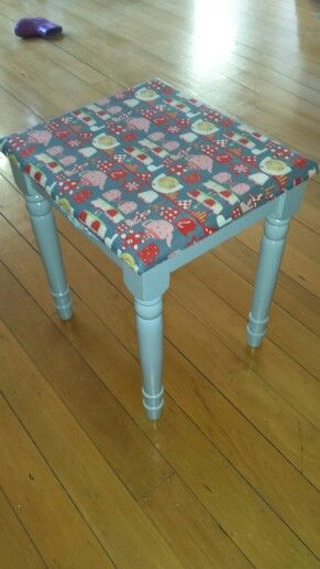 Decoupage table for Gab