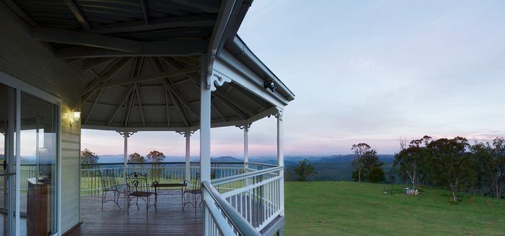 The rotunda, which features heritage lattice work, offers 180 degree views from the home