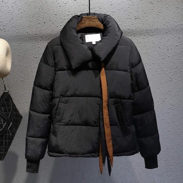 Plus Size Xxxl Short Cotton Coat Women Harajuku Winter Jacket Women Chaqueta Mujer Bread Coat Cotton Jacket Parka C4900 black XX 1