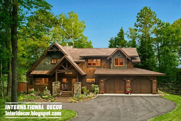 Rustic Farmhouse Decor | exterior farmhouse in the woods with a rustic interior