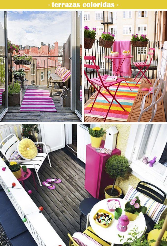 terrazas coloridas