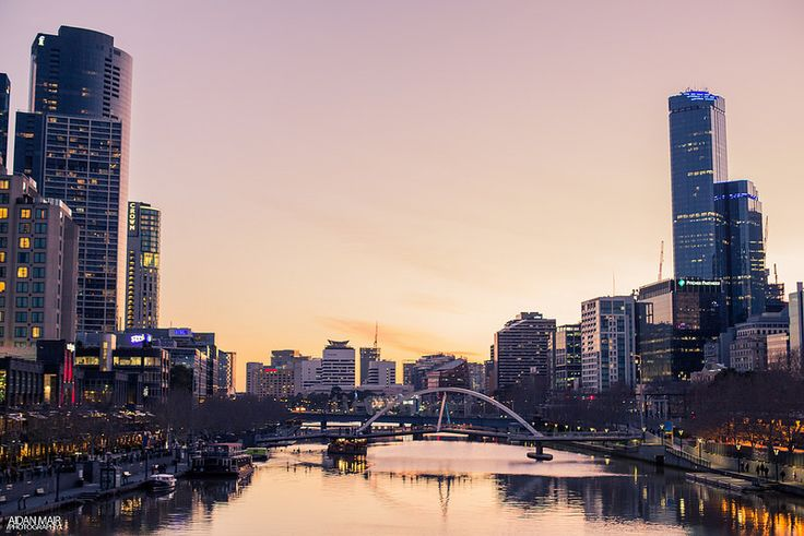 Melbourne City Sunset - Southbank