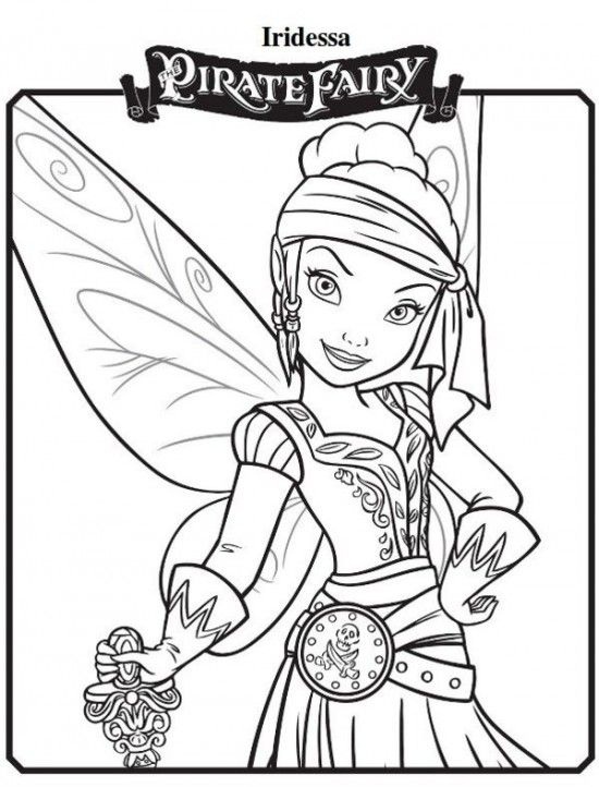 Iridessa New Tinkerbell Pirate Fairy Coloring Pages 550x722 Picture