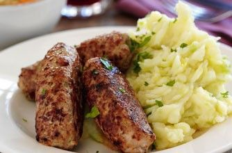 Slimming World Homemade mustard sausages and colcannon