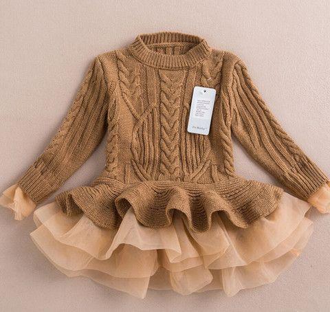 Aubrey - Tan Knit Sweater Dress/Top