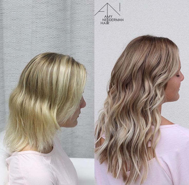 NBR extensions before and after babylight bronde