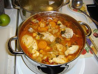 This soup is a recipe of my friends father who passed away a few years ago. It is soooo delicious I was shocked when I found out how easy it is to make!! the El Pato sauce called for in this recipe is easily found in the Mexican isle of your grociery store (unless you live in Queensland, Australia... cant find it here!! I have to have my sister send it to me from the U.S. just so I can make this soup!!) or at a Mexican market. Make sure to get the yellow can labelled hot tomato sauce or…