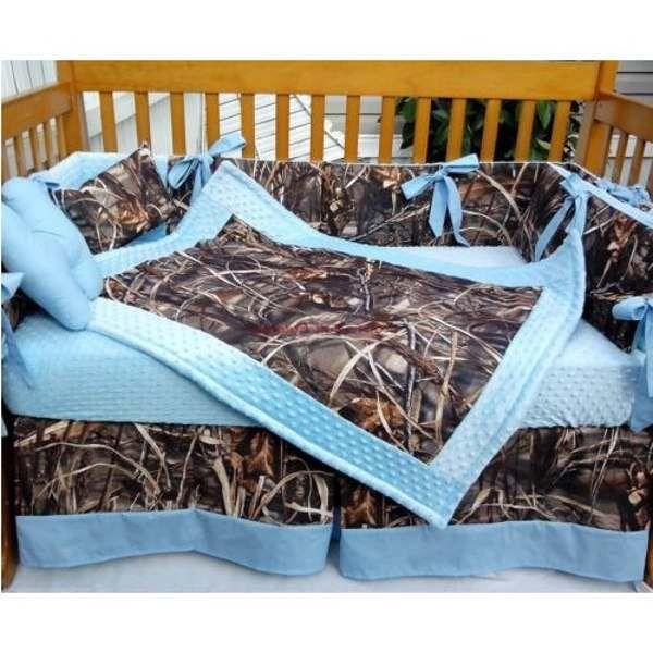 Blue Camo Crib Bedding Baby, Camo And Blue Baby Bedding