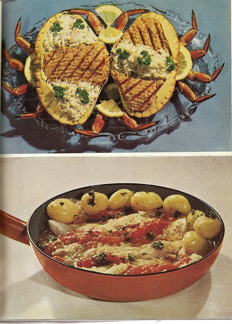 Dressed Crab by glen.h, via Flickr.  Something from an old horror movie.    And its egg sacs.
