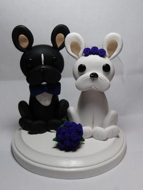 Custom French Bulldog Cake Topper By Claycreationsbylaura
