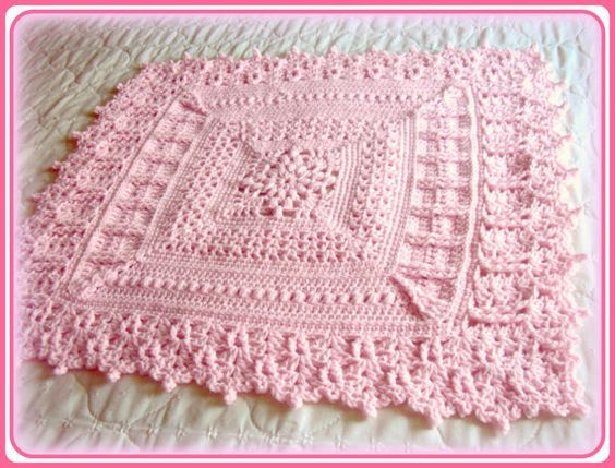 Crochet Pattern, Baby Blanket, Heirloom Coverlet for Baby, PDF file instant download