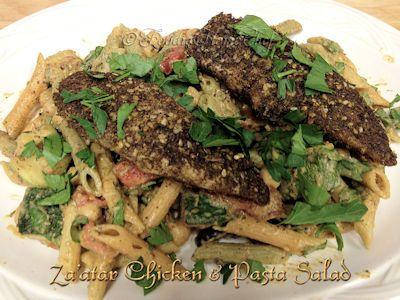 Za'atar Chicken & Pasta Salad by Foodie Home Chef | oldfatguy.ca