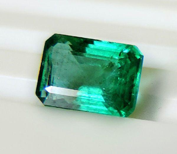 2.51 ct Natural Colombian Green Emerald  DIiamond Engagement Ring 18K White Gold #SamJewel #AnniversaryBirthdayWeddingValentinesChristmas