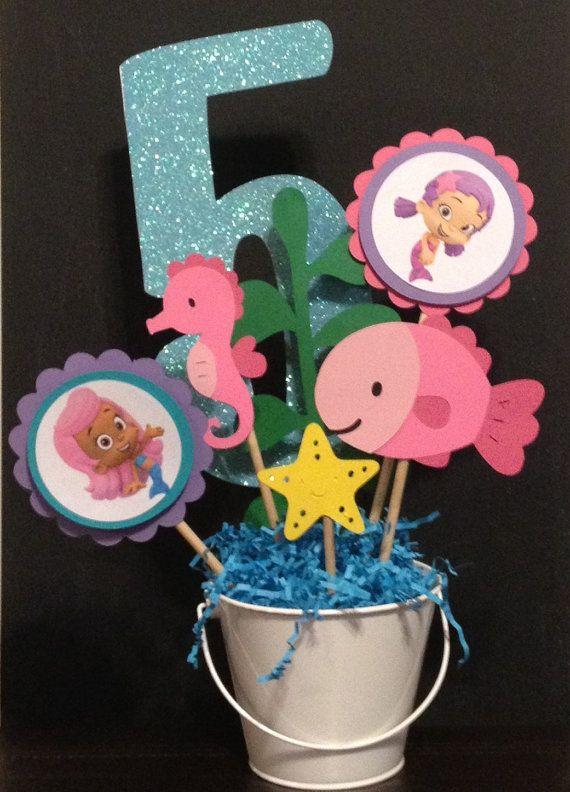 25 best bubble guppies centerpieces ideas on pinterest bubble guppies mermaid party - Bubble guppies center pieces ...