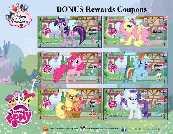 My Little Pony Play Money Bonus Coloring Zine Party Printables Printable Money Mlp Party Learning Money My Little Pony Party My Little Pony Coloring My Little Pony Stickers My Little Pony
