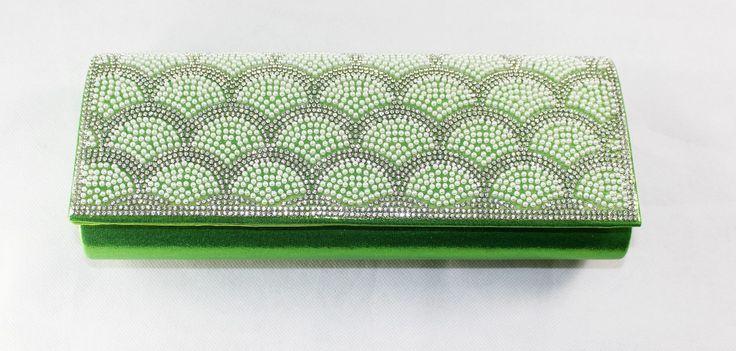 Green Party Purse wedding clutch bag