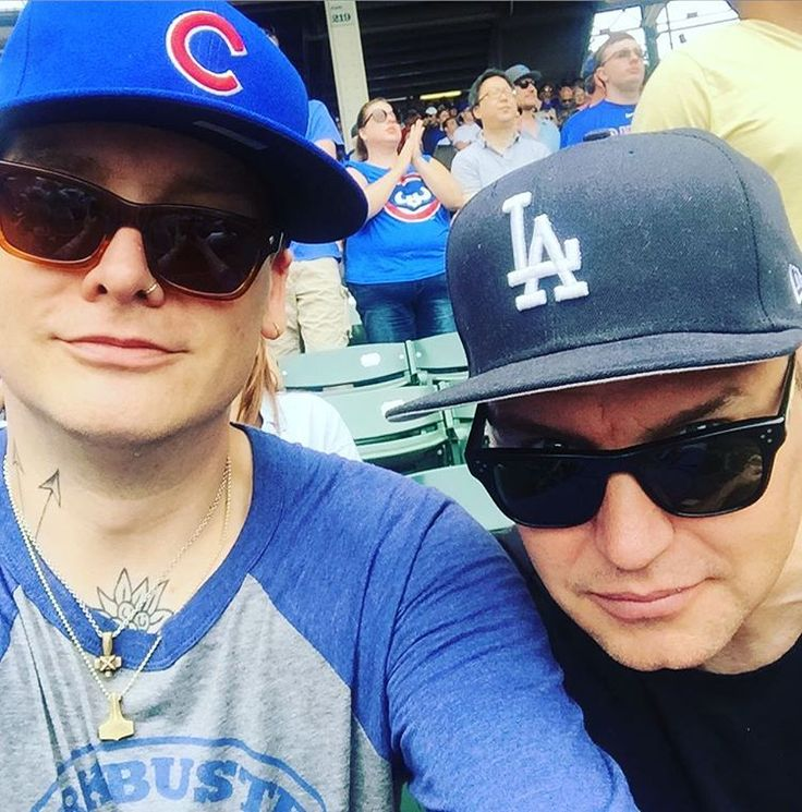Matt Skiba and Mark Hoppus of Blink-182