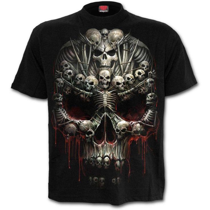 Death Bones T-Shirt https://www.highvoltageclothing.com  #musthave #clothing #loveit #biker
