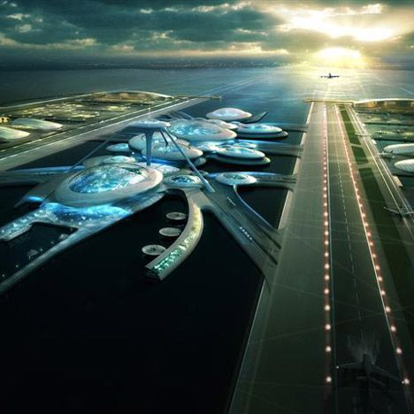 Architecture firm Gensler have released a conceptual proposal for a new floating airport for London, located in the Thames Estuary with terminals connected by underwater tunnels.
