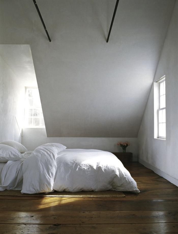 I'd put my bed on the floor too if I had floors like that!! 10 Attic Loft Bedrooms, Rustic Edition : Remodelista