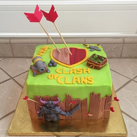This was my sons Clash of Clans cake from a few years ago. Loved making this one! #amberslittlecupcakery #instacakes #cakes #cakesofinstagram #cake #foodart #buttercream #cakedecorating #cakedesign #fondant #fondantcake #birthday #birthdaycake #foodporn #foodart #nerdybaker #cakestagram #cakeart #cakeartist #cakedesign #cakedesigner #wilton #wiltonfondant #undiscoveredbaker #cakebaker #cakelove #instacakers #clashofclans #clashofclanscake #clash_of_clans