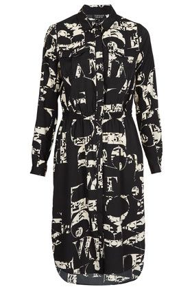 Letter Print Shirtdress