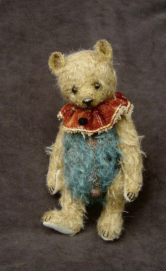 Stuart Vintage Style OOAK Mohair Artist Art Bear by aerlinnbears
