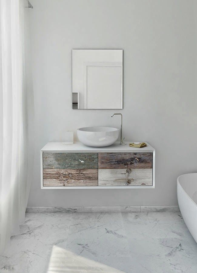 Bianchini U0026 Capponi Multicolor Bathroom Collection: Bathroom Furniture Made  In Italy In Reclaimed Wood