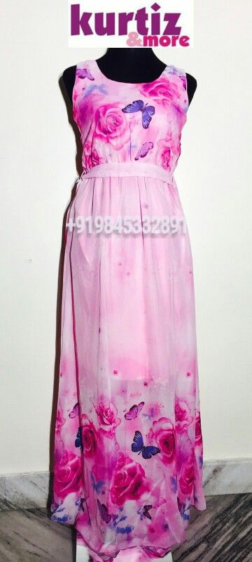 Pink tissue cloth gown