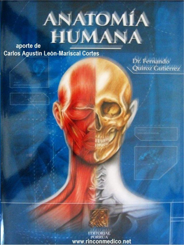 Anatomía humana-Quiroz (tomo 3) | libros medicina | Pinterest