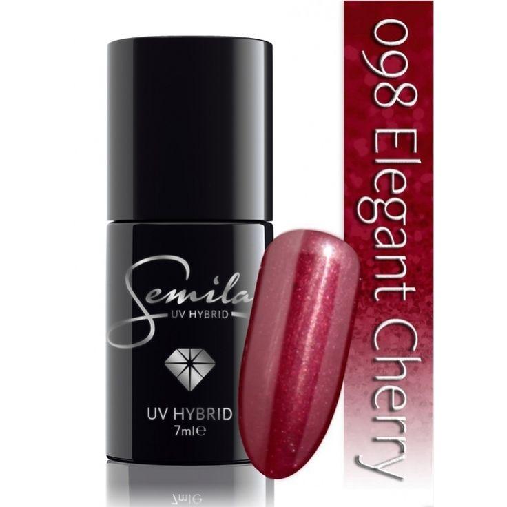 Ημιμόνιμο μανό Semilac - 098 Elegant Cherry 7ml - Semilac | Προϊόντα Μανικιούρ - Πεντικιούρ Semilac & Ημιμόνιμα.