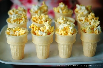 How cute are these popcorn Olympic torches?