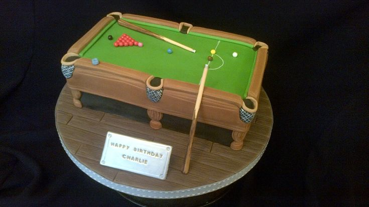 SNOOKER TABLE CAKE | by Julia Hardy Cakes