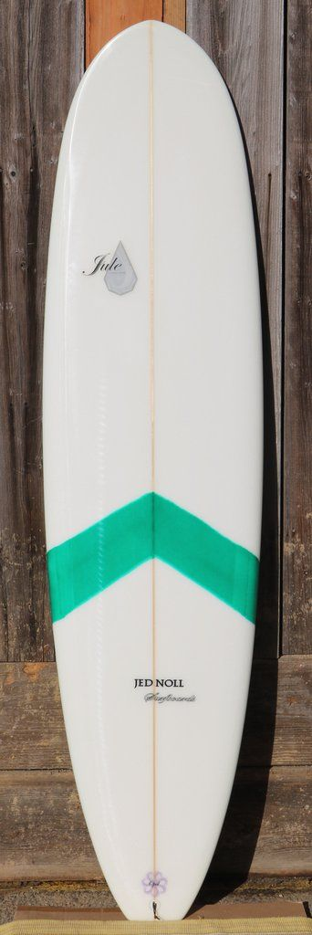 """Opal 7'4""""x21-3/4""""x2-3/4"""" - Green tint chevron deck The Opal is your """"mini-mal"""" or shrunken longboard. With the right amount of weight, thickness, and width, the Opal can easily paddle into waves and r"""