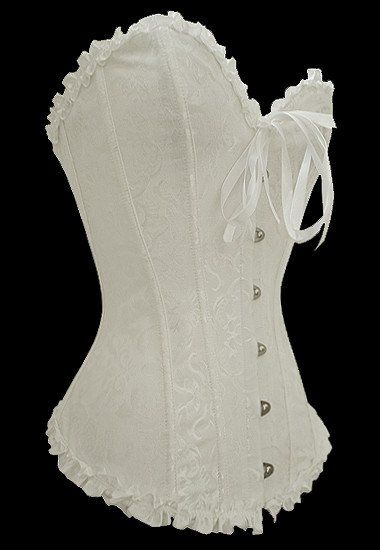 Grande Taille Corsets Blanc Overbust Motif Corset – Modebuy.com