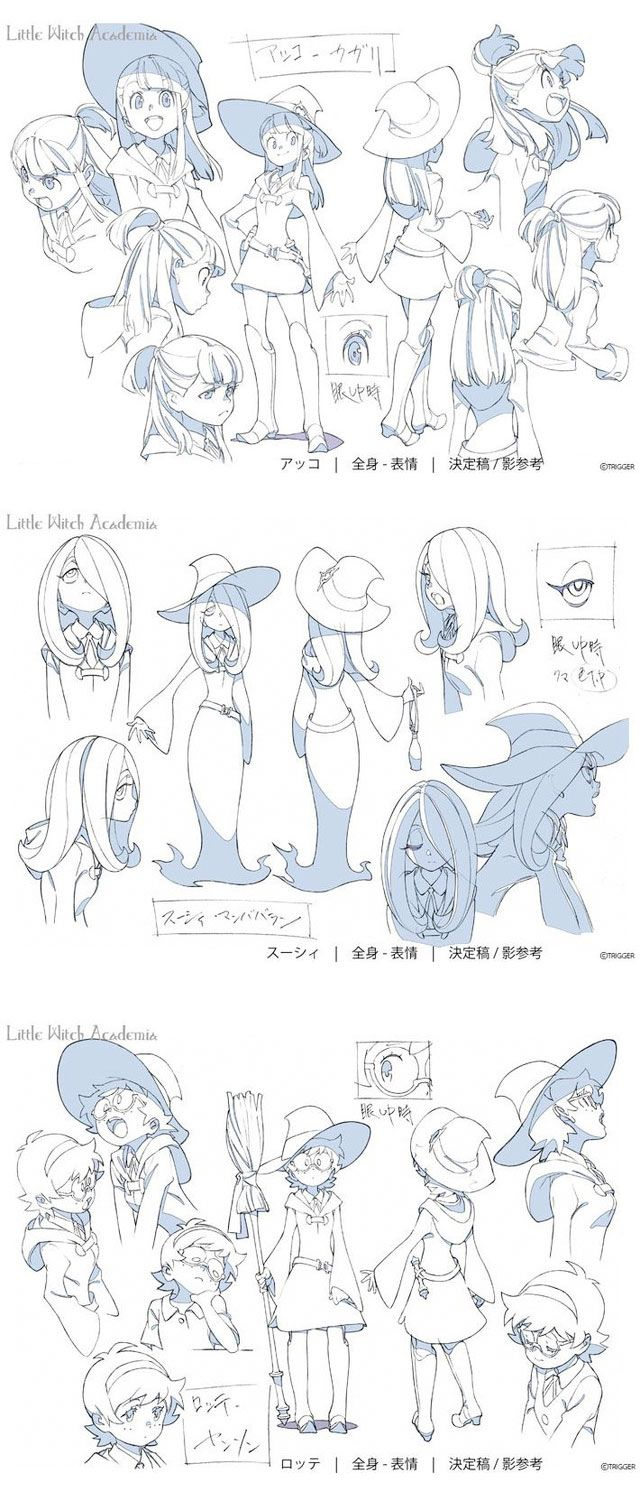 LittleWitchAcademia-3 ★ || CHARACTER DESIGN REFERENCES | キャラクターデザイン • Find more artworks at https://www.facebook.com/CharacterDesignReferences & http://www.pinterest.com/characterdesigh and learn how to draw: #concept #art #animation #anime #comics || ★