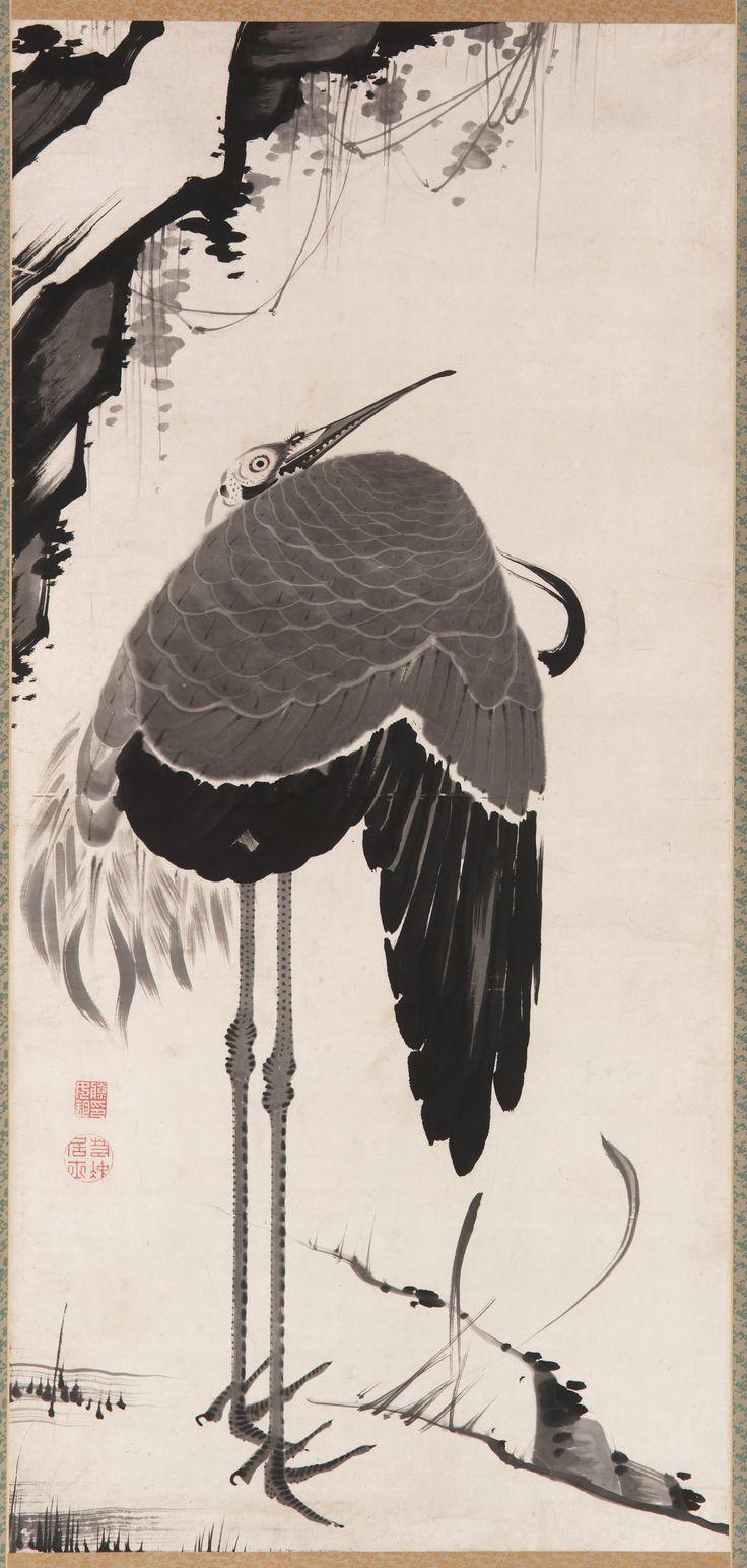 Jakuchu_-_Cranes_(2)_-_Google_Art_Project.jpg (1895×3977)