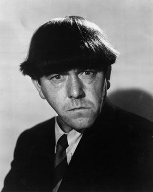 "Moe Howard -- (6/19/1897-5/4/1975). American Actor & Comedian. He portrayed  Moe on TV Series ""The Three Stooges"". He died of Lung Cancer, age of 77. Born: Moses Harry Horwitz."
