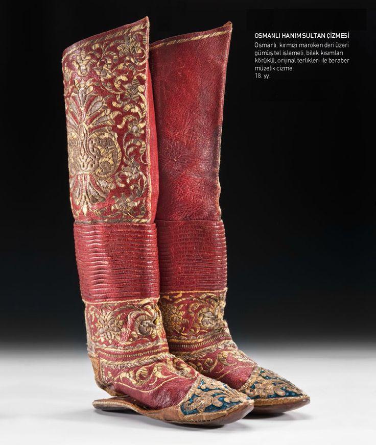 Ottoman Sultana Boots, 18th Century (Osmanlı Hanım Sultan Çizmesi, 18.YY) #OttomanEmpire