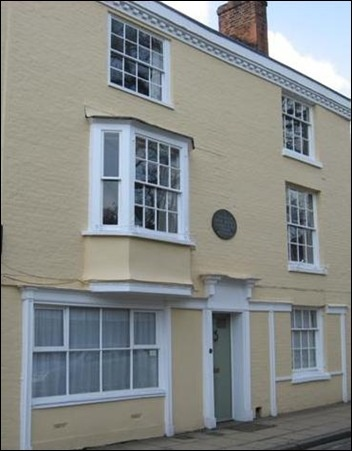 House in Winchester where Jane Austen died at age 41, in 1817
