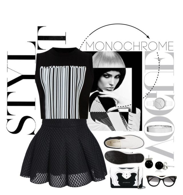 MONOCHROME by bosko on Polyvore featuring polyvore, fashion, style, Alexander Wang, Givenchy, Skagen, Eddie Borgo, Bling Jewelry, STELLA McCARTNEY, clothing and monochrome