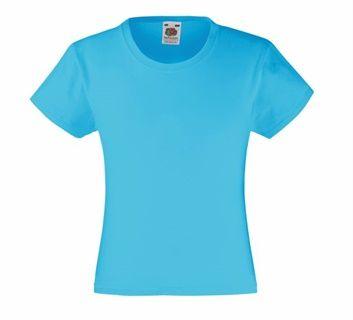 Koszulka dla dziewcząt Valueweight. Odzież damska.  Numer katalogowy: 610050. Materiał: 100% bawełna. Gramatura: 160g/165g.