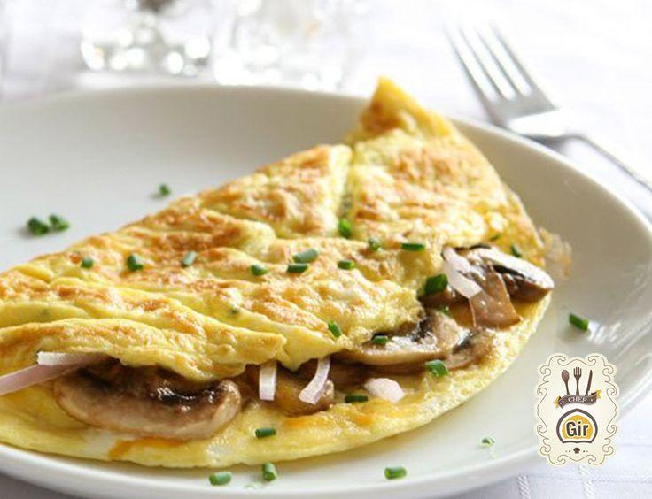 Omelette con funghi e caciocavallo ideale per cena
