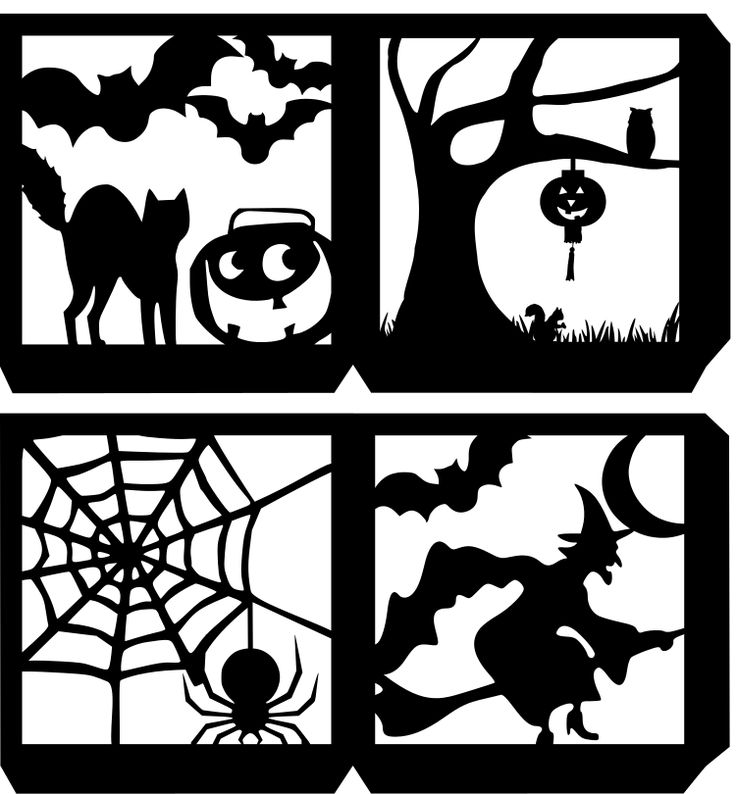 Four Sided Halloween Lantern SVG