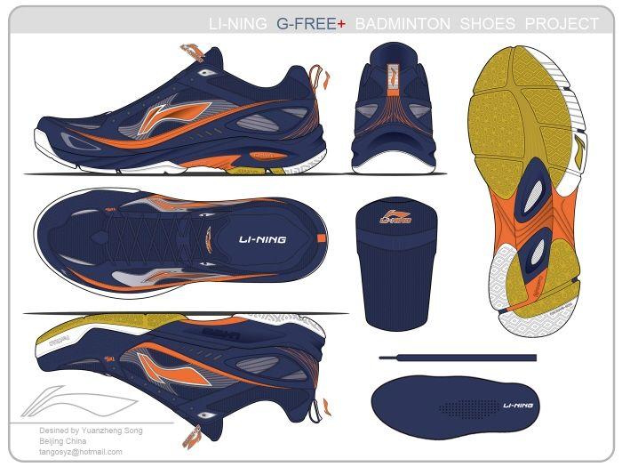 Li-Ning Badminton Shoes G-Free+ by Yuanzheng SONG at Coroflot.com