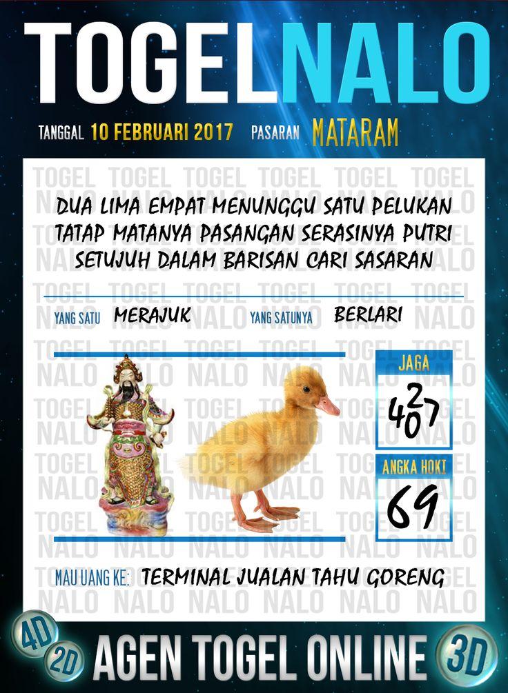 Acak Kodal 3D Togel Wap Online Live Draw 4D TogelNalo Mataram 10 Febuari 2017